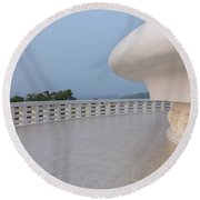 Japanese Peace Pagoda - Sri Lanka Round Beach Towel