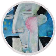 Jazz Face Round Beach Towel