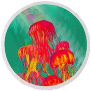 Jellys2 Round Beach Towel