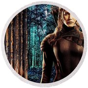 Jennifer Lawrence Collection Round Beach Towel