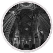 Jerez De La Frontera Cathedral Dome From Inside Cadiz Spain Round Beach Towel