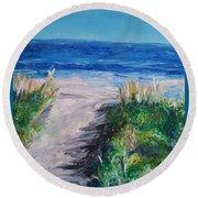 Jersey Shore Dunes Round Beach Towel