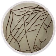 Jesus - Tile Round Beach Towel