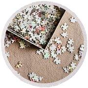 Jigsaw Puzzle Round Beach Towel