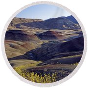 John Day Fossil Beds  Round Beach Towel
