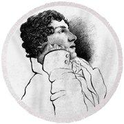 John Keats (1795-1821) Round Beach Towel