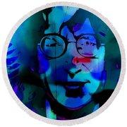 John Lennon Round Beach Towel