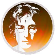 John Lennon The Legend Round Beach Towel