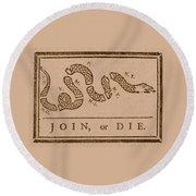 Join Or Die Round Beach Towel