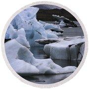 Jokulsarlon Glacier Lagoon Iceland 2431 Round Beach Towel