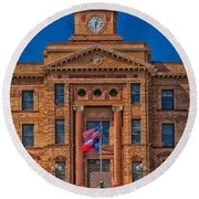 Jones County Courthouse Round Beach Towel