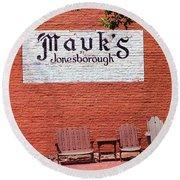 Jonesborough Tennessee Mauk's Store Round Beach Towel
