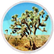 Joshua Trees Round Beach Towel