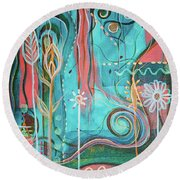 Joy Round Beach Towel