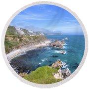 Jurassic Coast - England Round Beach Towel