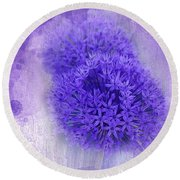 Just A Lilac Dream -4- Round Beach Towel