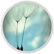 Just Two Of Us Round Beach Towel