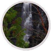 Kakabeka Falls, Low Water Round Beach Towel