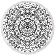 Kaleidoscope 706 Round Beach Towel