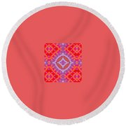 Kaleidoscope 9 Round Beach Towel