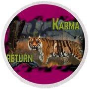 Karmas Return Round Beach Towel