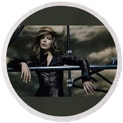 Kate Beckinsale Round Beach Towel