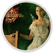 Katniss Hunger Games Catching Fire Round Beach Towel