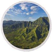 Kauai Aerial Round Beach Towel