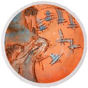 Kaweeke - Tile Round Beach Towel