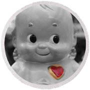 Rosie O'neil's Kewpie Of Love Round Beach Towel