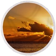 Key West Sunrise 21 Round Beach Towel