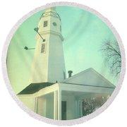 Kimberly Pointe Lighthouse Round Beach Towel