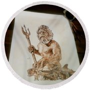 King Neptune Round Beach Towel