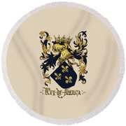 King Of France Coat Of Arms - Livro Do Armeiro-mor  Round Beach Towel