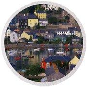 Kinsale, Co Cork, Ireland Boats And Round Beach Towel