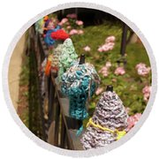 Knit Fence Protectors Round Beach Towel