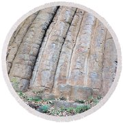 Konojedy Rock Loaves Round Beach Towel