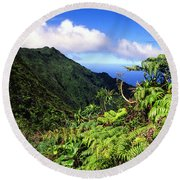 Koolau Summit Trail Round Beach Towel