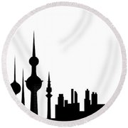 Kuwait Skyline Round Beach Towel