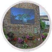 La Gacilly, Morbihan, Brittany, France, Photo Festival Round Beach Towel