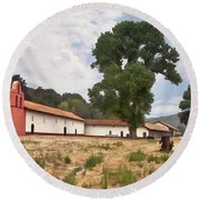 La Purisima Mission II Round Beach Towel