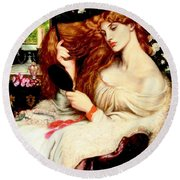 Lady Lilith Round Beach Towel