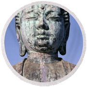 Lahaina, Buddha At Jodo  Round Beach Towel