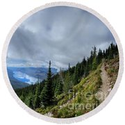 Lake Mcdonald From Mt Brown Trail - Glacier National Park Round Beach Towel