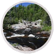 Lake Superior Provincial Park Round Beach Towel