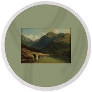 Landscape From Brienzersee Round Beach Towel