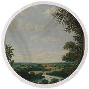 Landscape In Brazil Round Beach Towel