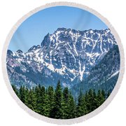 Landscape Nature Scenes Around Columbia River Washington State A Round Beach Towel