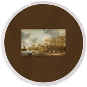 Landscape With Fishers Round Beach Towel