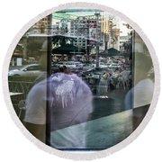 Las Vegas Strip 0312 Round Beach Towel